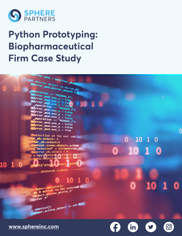 Python Prototyping: Biopharmaceutical Firm Case Study